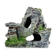 Mountain Aquarium Rockery Hiding Cave Tree Fish Tank Ornament Diy Home Decor