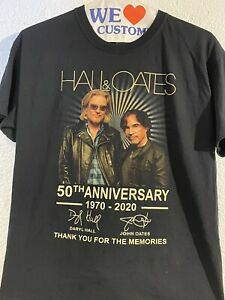 hall and oates t shirt 50th anniversery