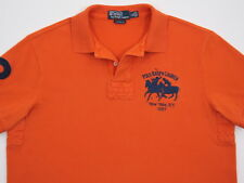 Mens Polo Ralph Lauren S/S Polo Players #2 Custom Fit Rugby ORANGE Large EUC