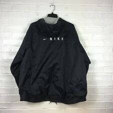 Vintage Nike Jacket Men's L Black Cotton Lined Full Zip Winter Coat VTG Nike
