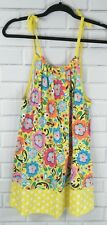 Hanna Andersson Girls Dress Spring Summer Tank size 160 Size 14-16Floral T