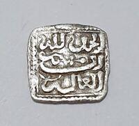 1/2 dirham carré Almohade EN ARGENT1er Sultan Abd Al Mumin ère Feodale 0.78g TTB