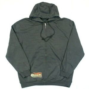 The Traveling Wilburys Logo Full Zip Sweatshirt Hoodie - Alstyle - Gray - XL