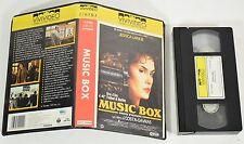 """VHS """"Music Box-Prova d'Accusa"""" Vivideo Cecchi-Gori 1979  collezione J.Lange -0FF"""