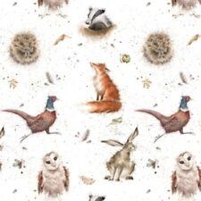 Wrendale woodlanders carta da pacco regalo da Hannah Dale FOX GUFO Lepre Made in UK