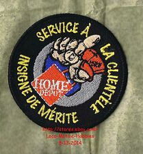 LMH PATCH Badge  HOME DEPOT  Service Clientele Insigne de Merite  MERIT AWARD