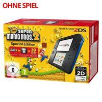 Nintendo 2DS - Konsole #schwarz-blau Mario Bros. 2 Edition ohne Spiel mit OVP