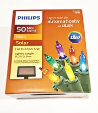 Philips 50ct Christmas Solar LED Mini Lights Multi