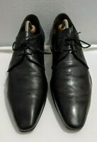 AQUILA Black Leather Lace-Ups - Mens Size 45 EU / 12 US - Made in Italy