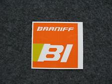 2 Braniff International Pumpkin Orange Logo Sticker.