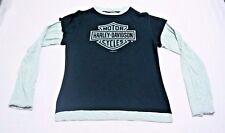 Harley Davidson Womens Long Sleeve T-Shirt Shirt Size Small EUC