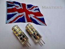 2 x G4 24 SMD3014 12 volt DC 1.6 watt Warm White LED bulbs - Genuine UK Stock