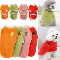 Winter Puppy Dog Warm Clothing Pet Sweater Warm Fleece Dog Clothes Tops Vest LOT