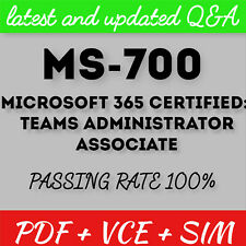 Microsoft MS-700 Managing Microsoft Teams Exam Test PDF & Sim Q&A