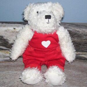 Cute 9 in. Hallmark Plush Bear in Red Coveralls.. Please Adopt Me!