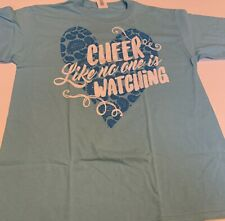 Cheerleading Tshirt Youth Large Cheer Like No Ones Watching Blue