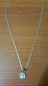 14k tricolor chain with 14k tricolor baby Jesus  (Divino Nino) pendant