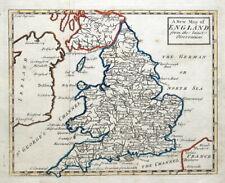 ENGLAND, John Senex, Rivers map, original antique map c1740