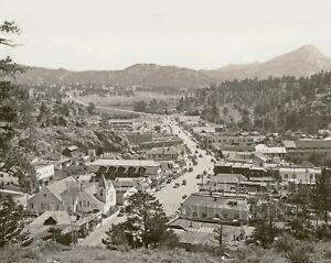 8x10 photo print: Estes Park Village Colorado CO downtown 1930 Rocky Mountain NP