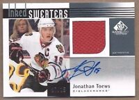 2011-12 inked hockey card Jonathan Toews autographed signed Chicago Blackhawks