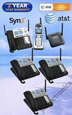 AT&T SynJ® SB67138 DECT 6.0 4-LINE PHONE - 1 CORDLESS + 3 DESKSETS + 1 REPEATER