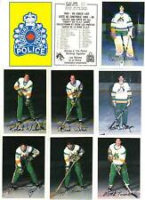 1985-86 Sudbury Wolves Junior Hockey Police Set (26) NRMT Pizza Hut Kiwanis