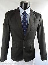 AQUASCUTUM Suffolk CHARCOAL with Club Check Trim Blazer Sports Jacket 42r BNWT