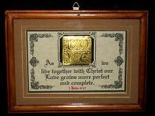"New Bible Verse Plaque/Signs""wChrist Our Love Grows""Wedding,Bride, Christian Gift"