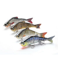 Fishing Lure 12cm 17g 4 Segment Lifelike Fishing Hard Lure Crankbait Hook Baits