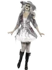 Kostüm Damen Geisterschiff Piratenschatz Grau mit Kleid und Hut Damenkostüm