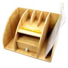 Bamboo Desktop File Holder, Stationery Organiser