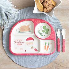 My Little Christmas Dinner Bamboo Resin Children's Christmas Dinner Set