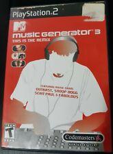 MTV Music Generator 3 PS2 Complete