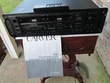 Carver Tdr-2400 Dual Auto Reverse Cassette Player Deck Hx Pro Recorder W/ Remote
