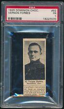 1924 V31 Dominion Chocolate ATHLETES #82 VERNON FORBES (Hockey) Hamilton Tigers