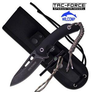 TAC-FORCE Survival Fixed Blade Knife + Fire Starter Compass Lanyard TF-200-949Bk