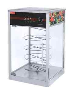 B New Commercial Rotary Hot Pizza Oven Display Cabinet
