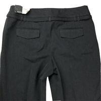 New ANN TAYLOR LOFT Petites Size 6P Marisa Belted Gray Stretch Wide Leg Pants