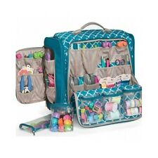 Rolling Tote Bag Crafts Scrapbook Organizer Mobile Storage Handle 360 Wheels New
