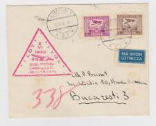 Poland, Romania:First flight Lwow -Bucharest, Fi. 103e, 128 covers flown