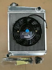 Alloy Radiator & Electric Fan Classic Austin Mini Racing High Flow Side Mount