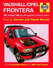 3454 Haynes Vauxhall/Opel Frontera (1991-sept 1998) a J Manuale s Workshop