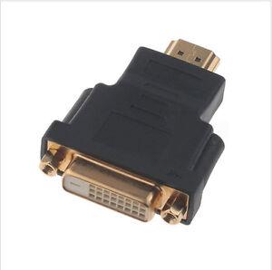 HDMI Male To DVI-D 24+1 Female Socket Adaptor Adapter Converter Joiner