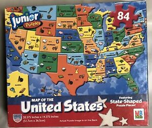 Puzzle Map Of The United States 84 Piece