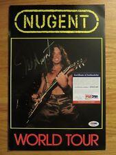 TED NUGENT signed 1982 World Concert Program PSA / DNA AD65249 CAT SCRATCH FEVER