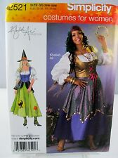 Simplicity 2521 WITCH or GYPSY Womens 18W-24W PLUS Costume Sewing Pattern UNCUT