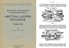 Hotchkiss 1950 Modelo 1914 Ametralladora Descripcion (Spanish)