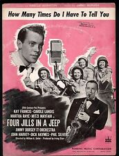 How Many Times Do I Have To Tell You 1944 Four Jills In A Jeep Sheet Music
