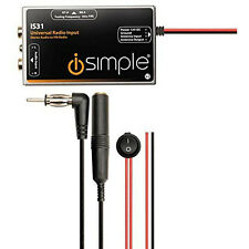 iSimple Universal Radio Antenna Input FM Modulator for OEM or Aftermarket Radios