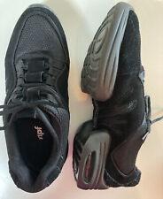 Black Rumpf Scooter/Glider split sole jazz dance sneakers